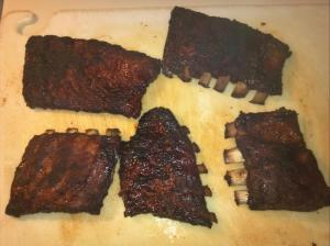 St Louis smoked ribs, end of step 3.