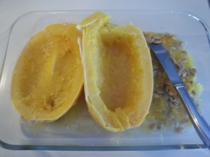 spaghetti squash out of wave