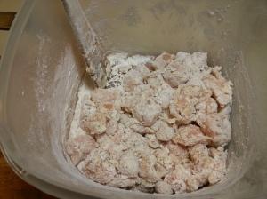 floured chicken