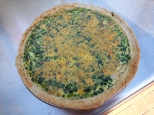 cooked quiche
