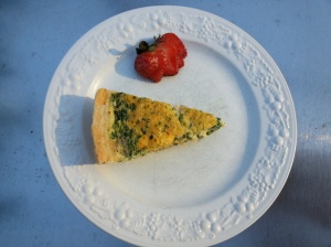 plated quiche