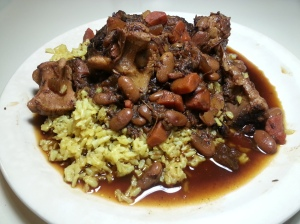 oxtail stew on rice