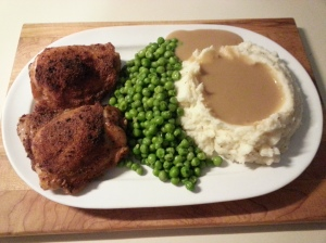 roast chicken and mash