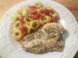 baked chicken with tortellini