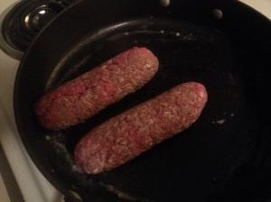 searing burger tube