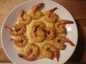 plated shrimp