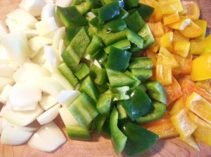 cut up veges