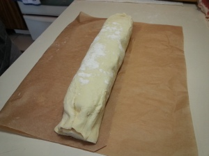 rolled pinwheel pastry log